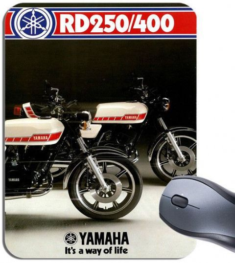RD250 & RD400 Motorcycle Dealer Poster Mouse Mat High Quality Motorbike Mousepad